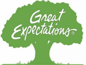 """Tree clipart with words """"Great Expectations"""""""